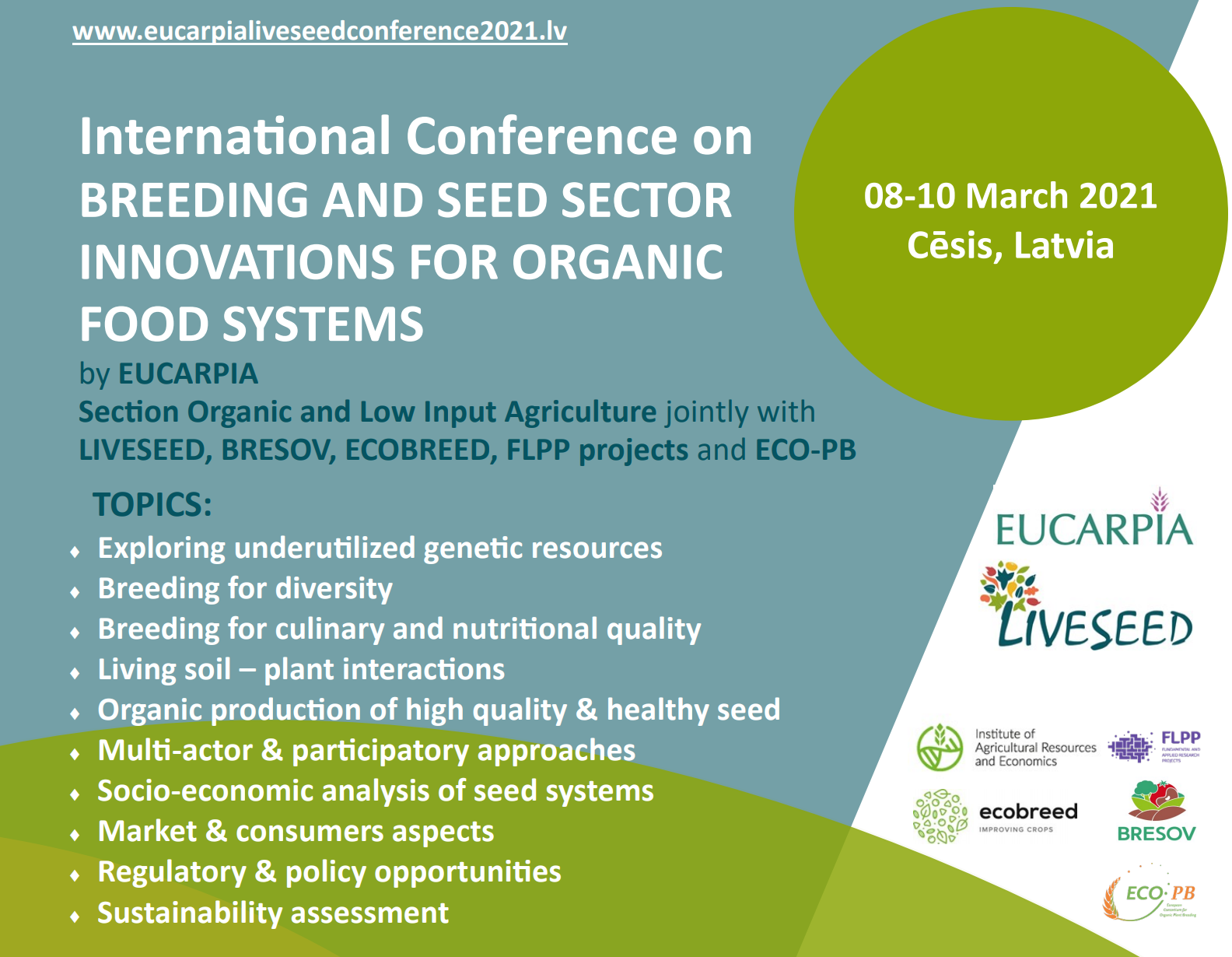 submit your abstract eucarpia liveseed