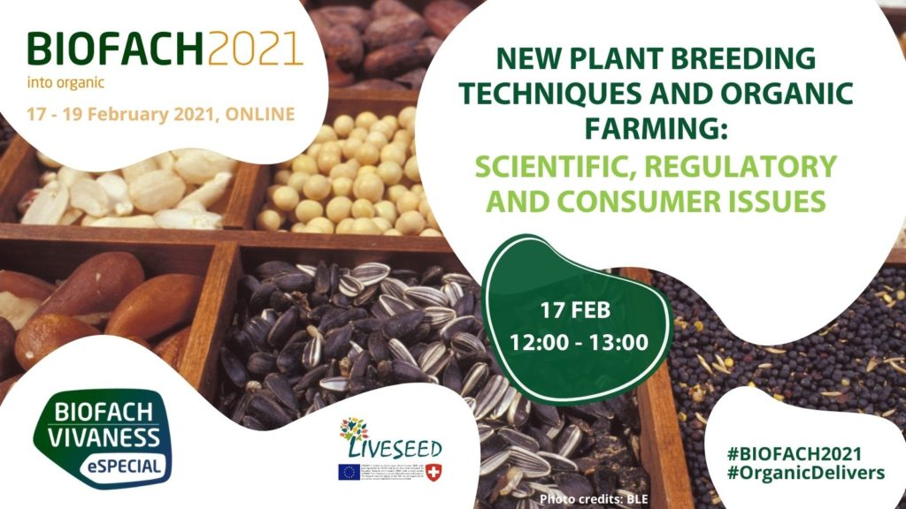 LIVESEED BIOFACH new plant breeding techniques NPBTs